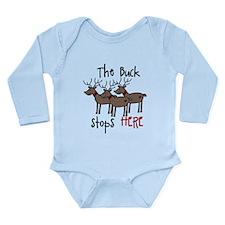 Buck Stops Here Long Sleeve Infant Bodysuit