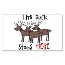 Buck Stops Here Decal