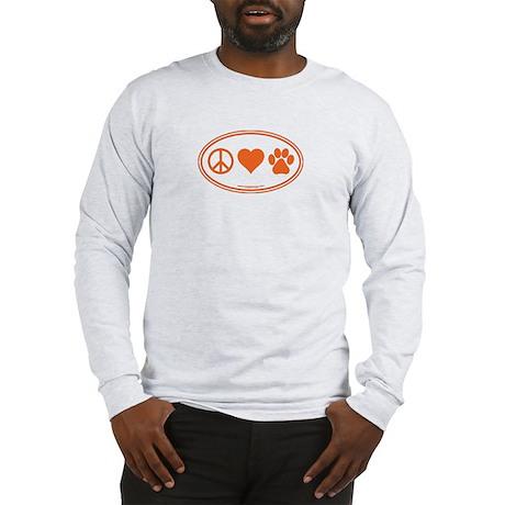 Peace Love Paws Long Sleeve T-Shirt