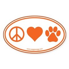 Peace Love Paws Bumper Stickers
