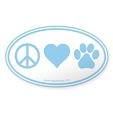 Peace Love Paws Decal