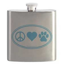 Peace Love Paws Flask