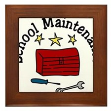 School Maintenance Framed Tile