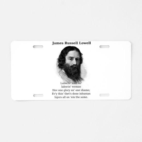 Laborin' Man - James Russell Lowell Aluminum L