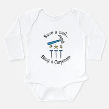 Save A Nail Long Sleeve Infant Bodysuit