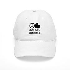 Peace Love Goldendoodle Baseball Cap