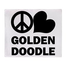 Peace Love Goldendoodle Throw Blanket