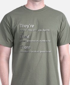 Theyre, Their, There T-Shirt