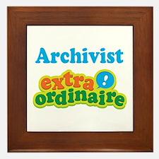 Archivist Extraordinaire Framed Tile