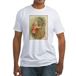 Alice Meets the Caterpillar Fitted T-Shirt