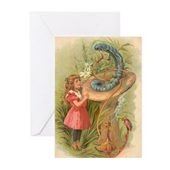 Alice Meets the Caterpillar Greeting Cards (Pk of