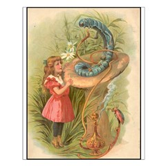 Alice Meets the Caterpillar Posters