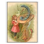 Alice Meets the Caterpillar Small Poster