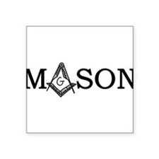 "Mason Square Sticker 3"" x 3"""