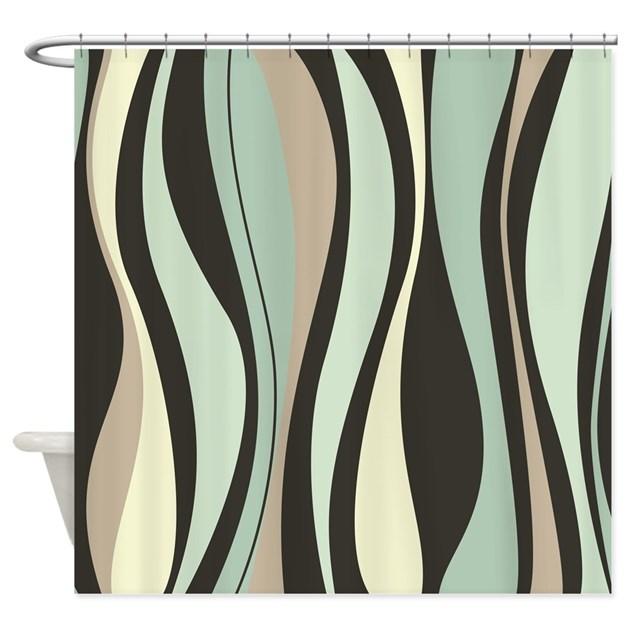 Beautiful Wavy Pattern Shower Curtain By BestShowerCurtains