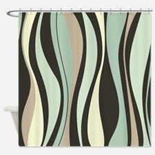 Beautiful Wavy Pattern Shower Curtain