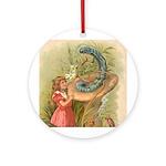 Alice Meets the Caterpillar Ornament (Round)