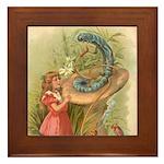 Alice Meets the Caterpillar Framed Tile