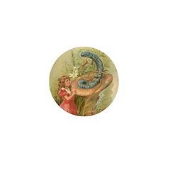 Alice Meets the Caterpillar Mini Button