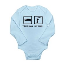 RC Helicopter Long Sleeve Infant Bodysuit