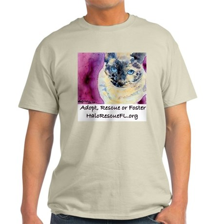 Halo Rescue- Square Design Light T-Shirt