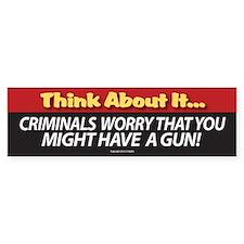 C. Think About It Bumper Bumper Sticker