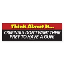 A. Think About It Bumper Sticker
