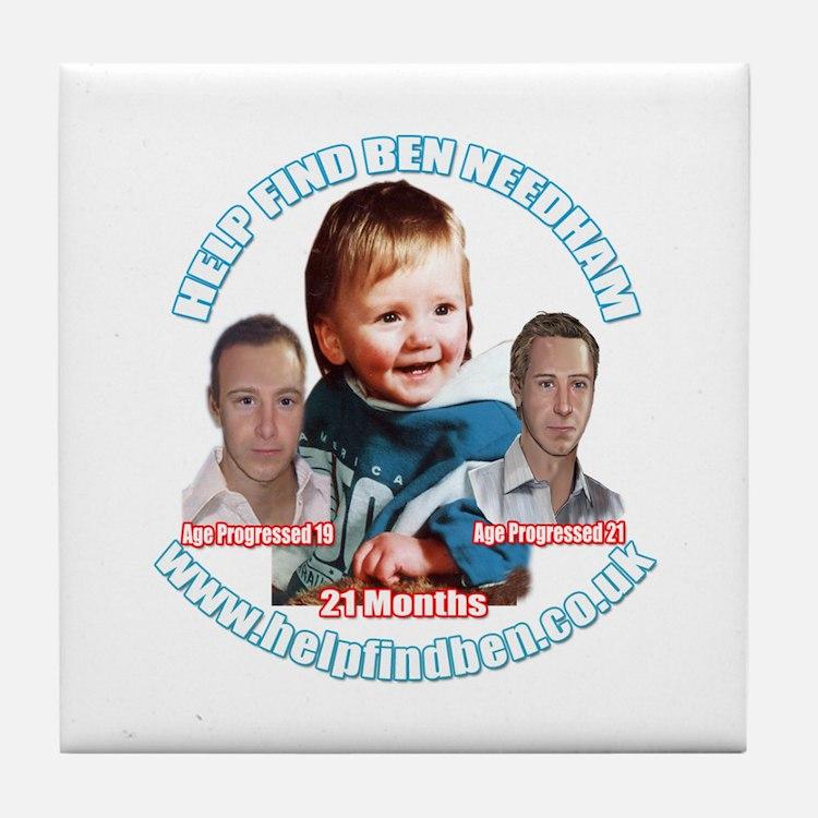 Help Find Ben Campaign Wear Tile Coaster