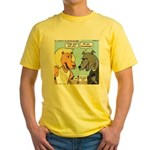 Lion and Wolf Yellow T-Shirt
