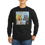 Lion and Wolf Long Sleeve Dark T-Shirt
