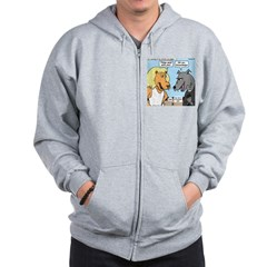 Lion and Wolf Zip Hoodie