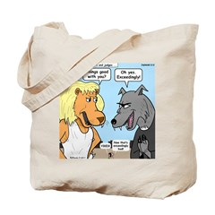 Lion and Wolf Tote Bag
