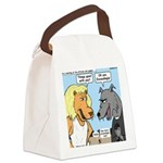 Lion and Wolf Canvas Lunch Bag