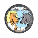 Lion and Wolf Wall Clock