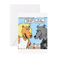 Lion and Wolf Greeting Card