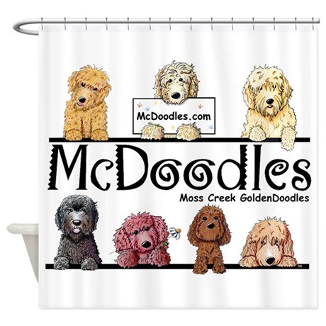 Goldendoodle McDoodles Shower Curtain