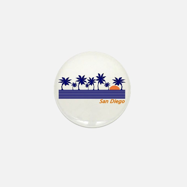 Cute San diego Mini Button