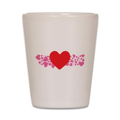 Big and Little Hearts Shot Glass