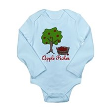 Apple Picker Long Sleeve Infant Bodysuit
