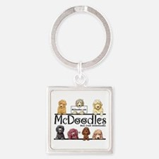 McDoodles Logo Square Keychain