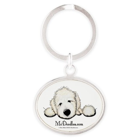 McDoodles Logo Oval Keychain
