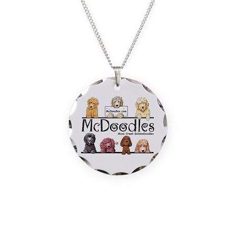 McDoodles Logo Necklace Circle Charm