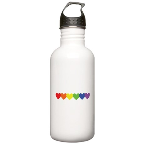 Rainbow Hearts Row Stainless Water Bottle 1.0L