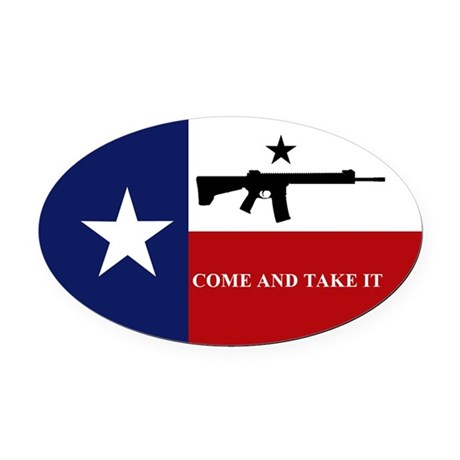 Come and Take It Oval Car Magnet