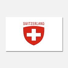 Switzerland Coat of arms Car Magnet 20 x 12