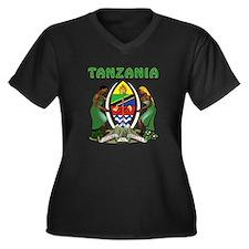 Tanzania Coat of arms Women's Plus Size V-Neck Dar