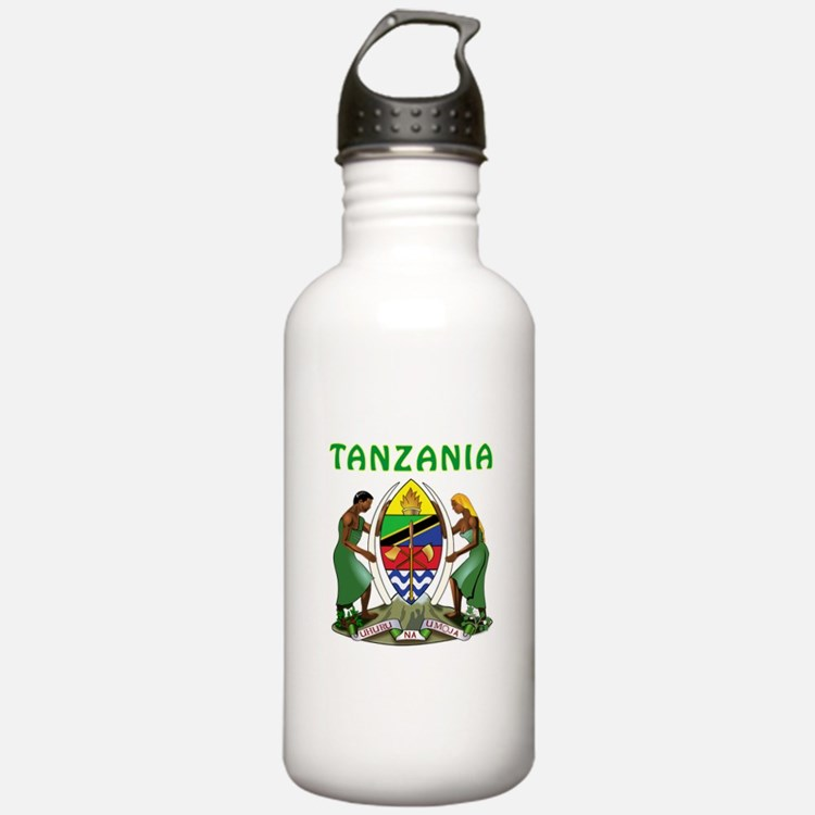 Tanzania Coat of arms Water Bottle
