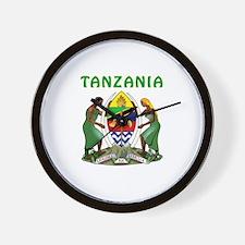 Tanzania Coat of arms Wall Clock