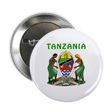 "Tanzania Coat of arms 2.25"" Button"