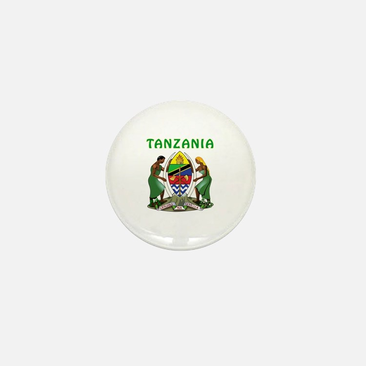 Tanzania Coat of arms Mini Button
